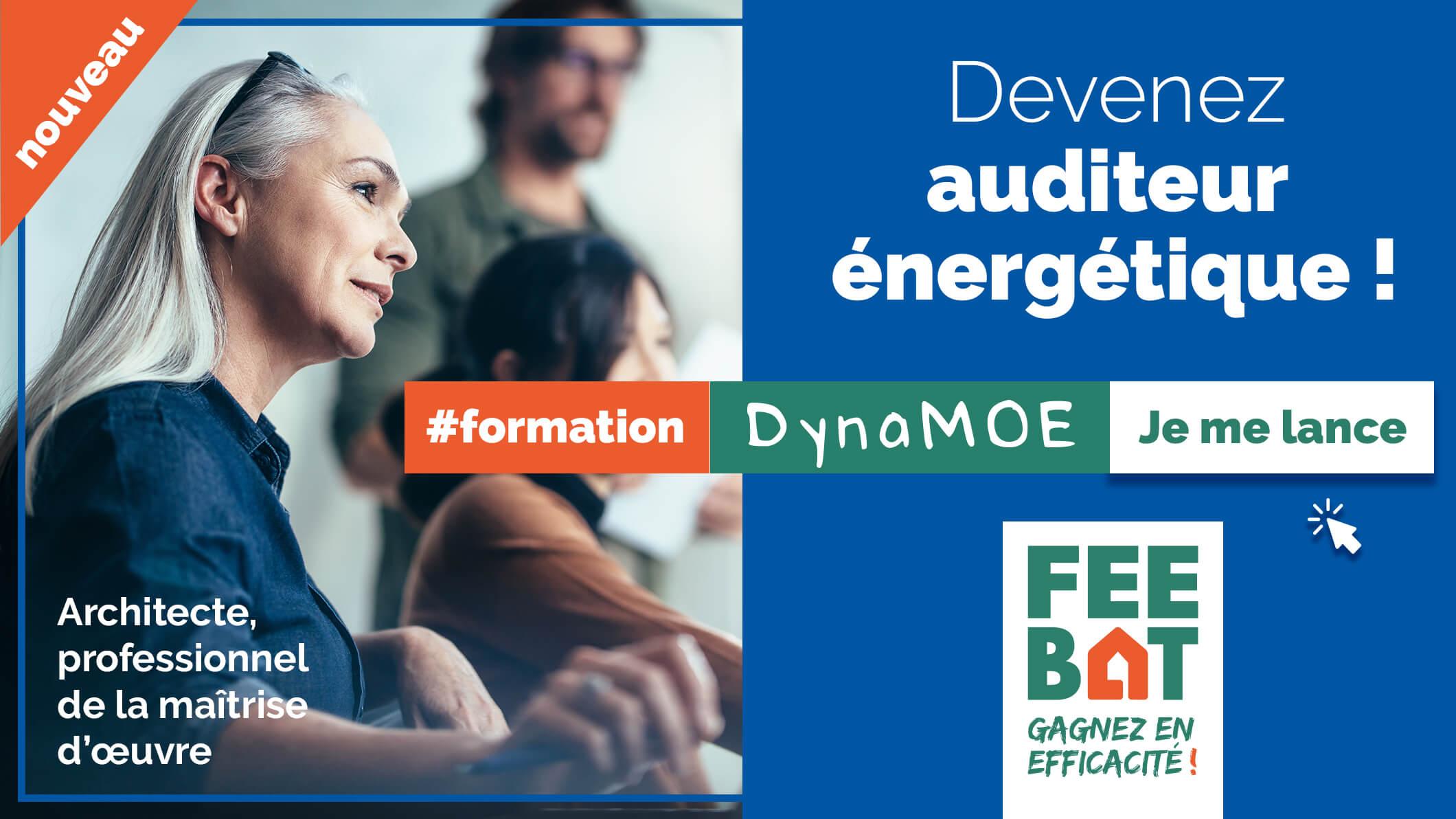 Nouveau : architectes, professionnels de la maîtrise d'œuvre, devenez auditeur énergétique ! #formation DynaMOE, je me lance