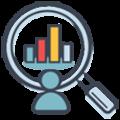 pictogramme de recherche de statistiques